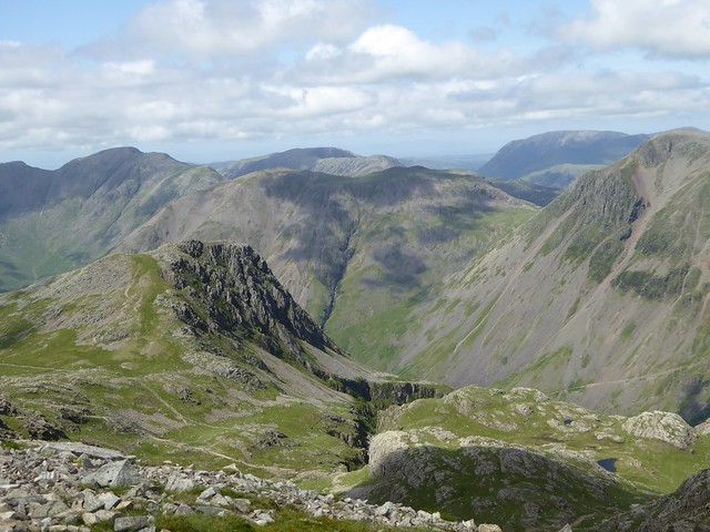Near the summit of Scafell Pike