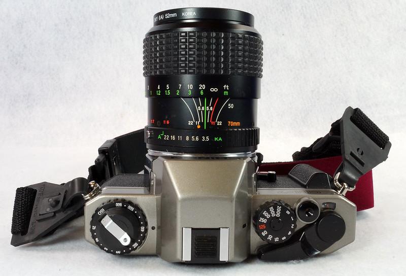 RD14976 Chinon CM-7 35mm SLR Film Camera, 50mm Ozunon Lens, Manuals & Coastar Case DSC07824