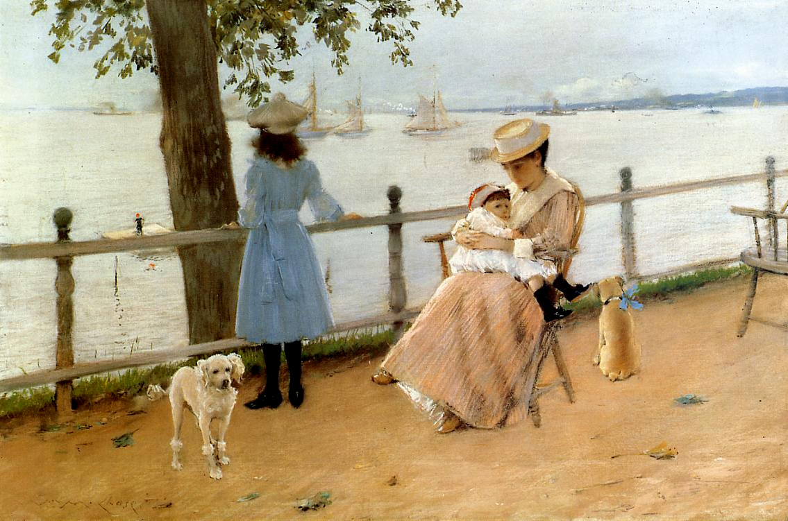 Afternoon by the Sea by William Merritt Chase, c.1888