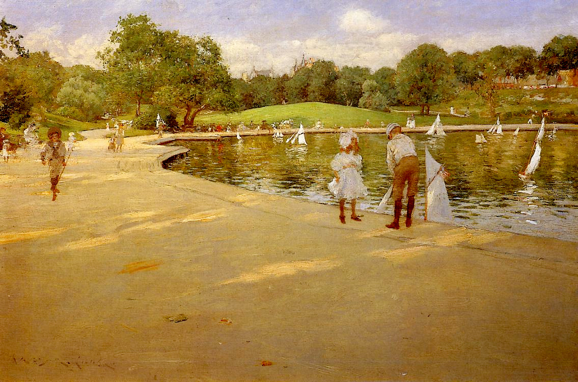 The Lake for Miniature Yachts by William Merritt Chase, 1890