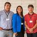 Jorge Retamal, de Codelco; Jacqueline Retamal, administradora de contrato de Tecnologías Cobra, y Damián León, de Minera Spence