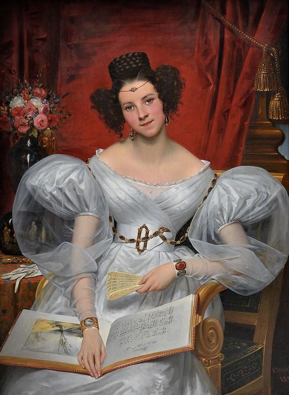 """Rouen (Seine-Maritime) - Musée des Beaux-Arts - """"Portrait de la marquise Chasseloup-Laubat, 1831"""" (Joseph-Désiré Court, 1796-1865)"""