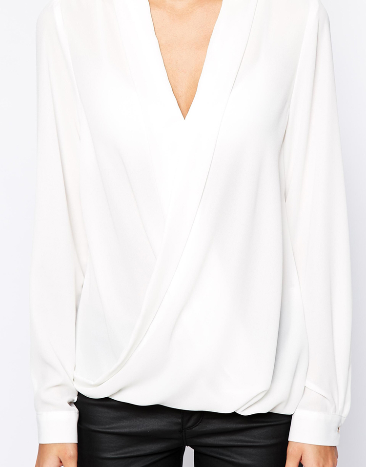 River Island Wrap Front Blouse
