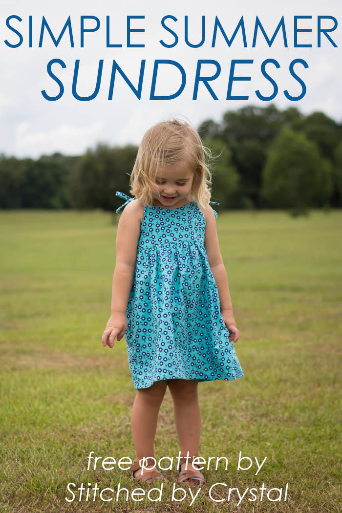 STITCHED by Crystal: Simple Summer Sundress - 30 Days of Sundresses