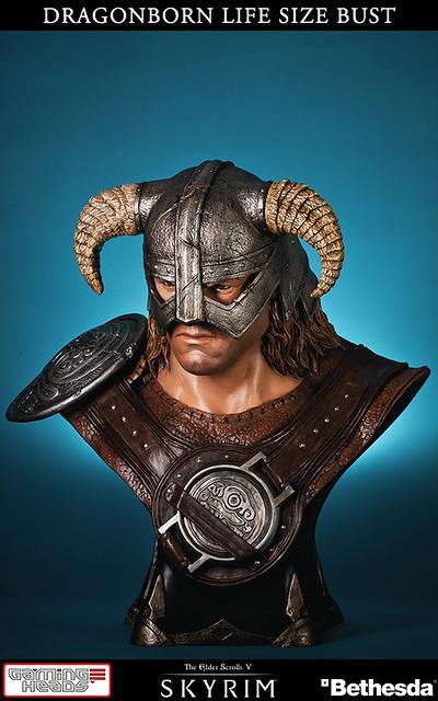 Gaming Heads【龍裔】Dragonborn 上古卷軸 5:無界天際 1:1 比例半身胸像