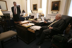 Vice President Cheney in His office with David Addington