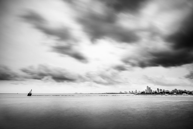 Navy pier - Chicago, United States - Black and white cityscape photography