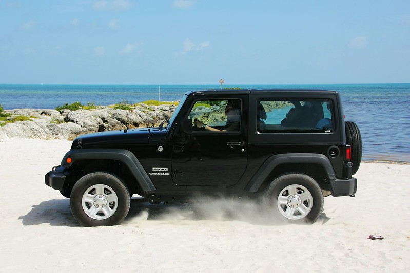 Jeep Wrangler on a Beach, Key West