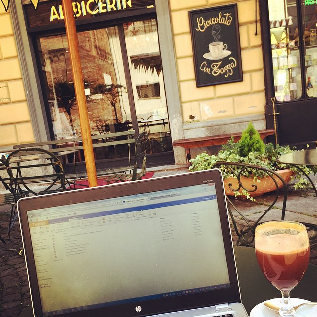 #WorkingRemotely from #Torino! This drink is called Bicerin and it is an amazing combination of #coffee, #chocolate, and milk! #remoteyear #travel #Italy