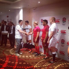 @canterburynz competition winners receiving their shirts from some of the @englandrugby squad members after the #EnglandRugbyshirt launch event at #Twickenham #CommitedtoEngland #RugbyWorldCup2015 #EnglandRugby