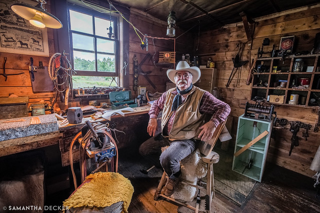 Bar U Ranch's Resident Saddle Maker