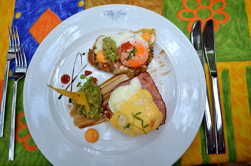 Eggs Benedict & Eggs Ranchero at Hotel Europe Villa Cortes