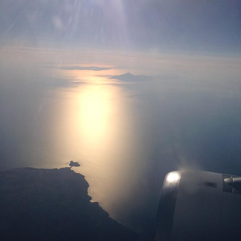 Goodbye Greece 😢 flying over Aegean sea