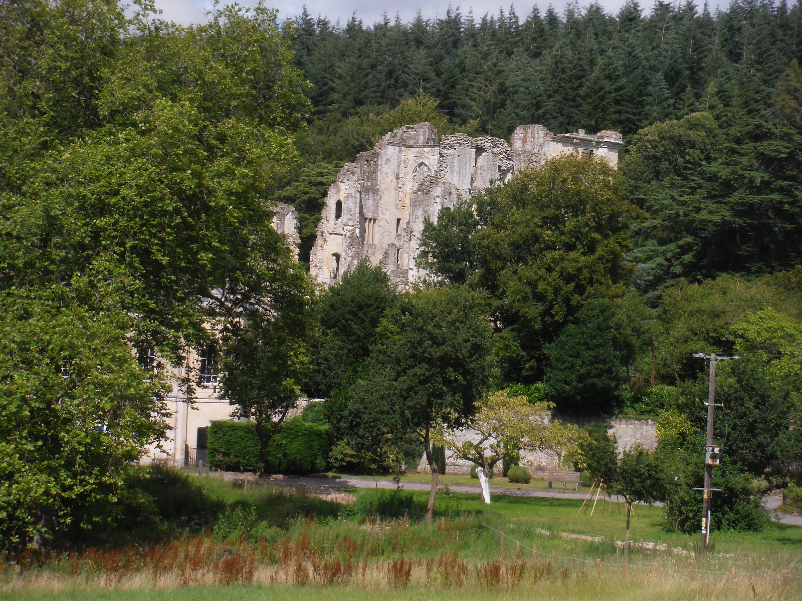 Old Wardour Castle Side View SWC Walk 252 Tisbury Circular via Donhead St. Andrew
