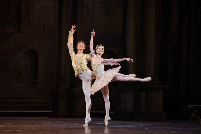 Vadim Muntagirov and Sarah Lamb in The Sleeping Beauty, The Royal Ballet © 2016 ROH. Photograph by Bill Cooper