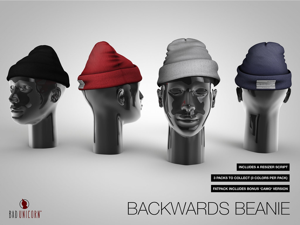 NEW! Backwards Beanie @ Bad Unicorn Mainstore - SecondLifeHub.com