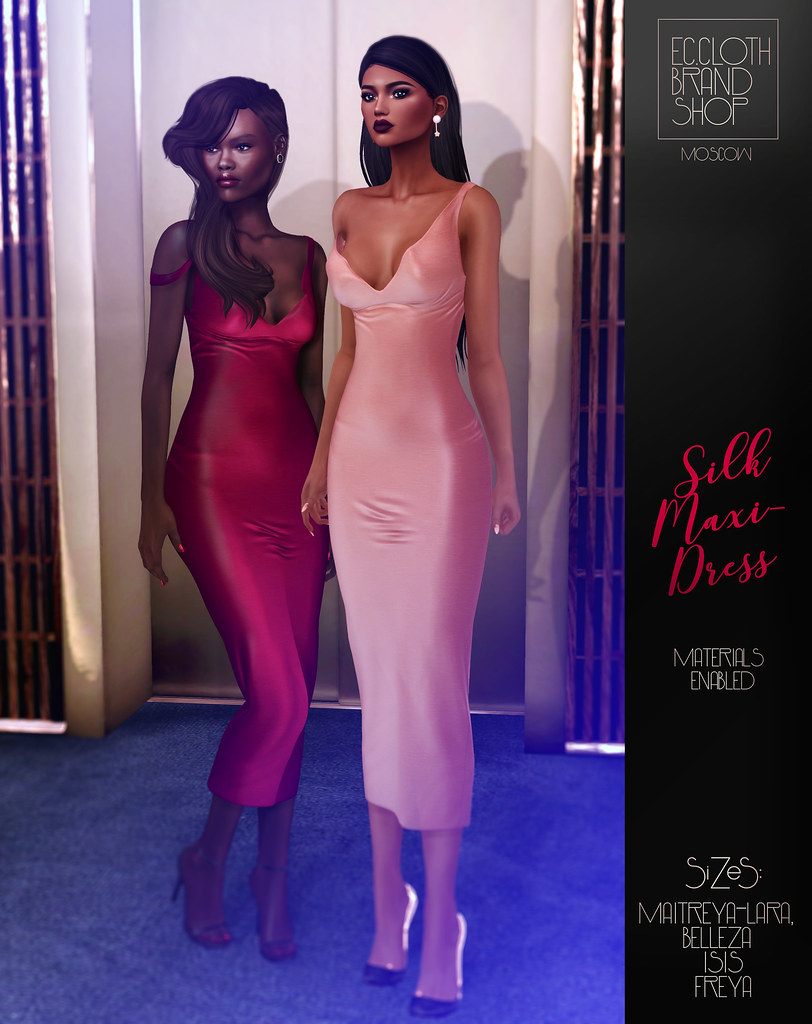 Ec.cloth - Silk Maxi-Dress - Tres Chic 17/01/17 - SecondLifeHub.com