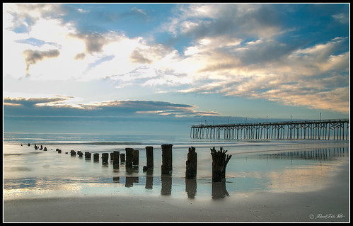 carolinabeach pier piers sunrise