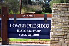 Lower Presidio Historical Park Sign Unveiling