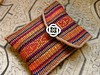 reeled silk pouch with weft inlay