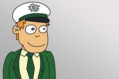 Polizist - grün - fröhlich