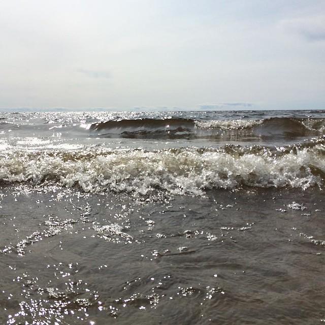 15 grader i luften. 15 grader i havet. Men man vänjer sig, man måste vänja sig.