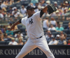 Yankees righty Ivan Nova delivers a pitch against the Rays: 7/5/2015
