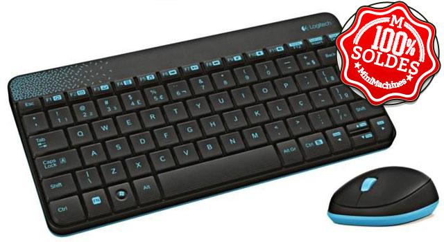logitech pack clavier souris sans fil mk240. Black Bedroom Furniture Sets. Home Design Ideas