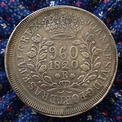 Brazil 1820R 960 Reis obverse