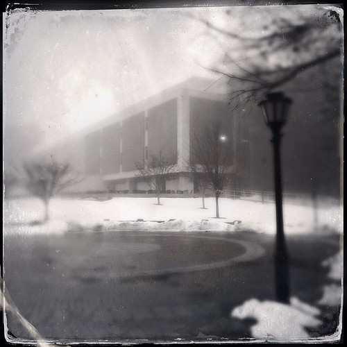 morning trees windows snow building brick nature weather fog architecture square landscape cellphone lamppost tintype delaware 365 newark distressed textured phonephoto earlyspring iphone universityofdelaware phoneography delawarenature squarelandscape iphonenature iphoneography squarearchitecture hipstamatic windowwednesdays iphone5s dtypeplatefilm tinto1884lens