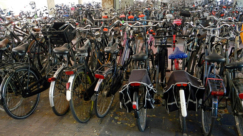 In Holland there is lots of bike parking