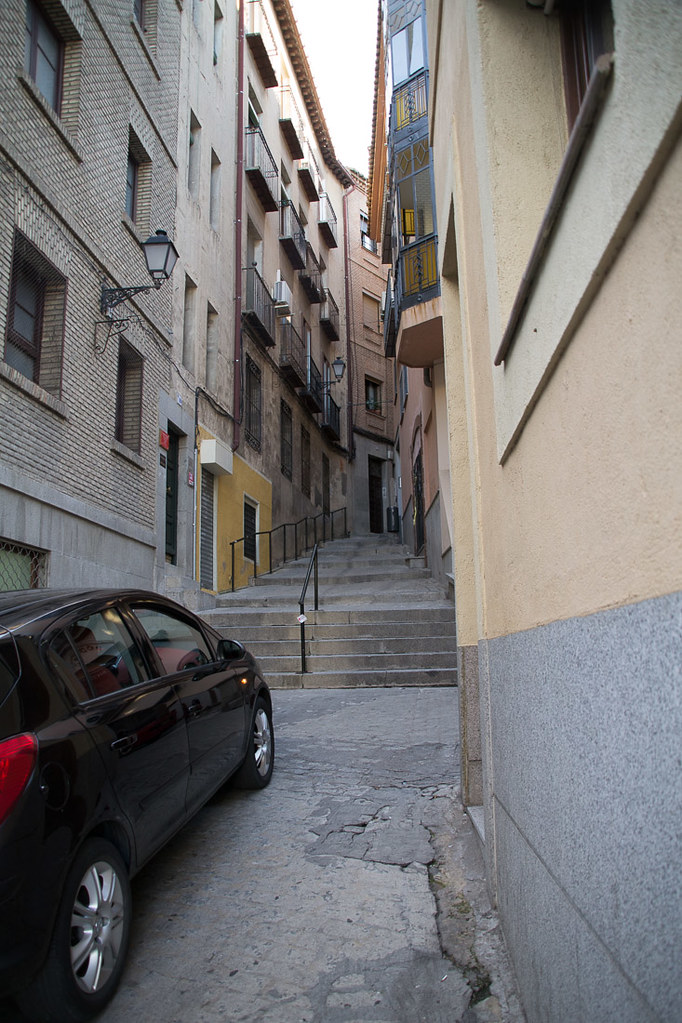 Steep streets in Toledo