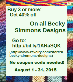 Buy 3+ patterns, get 40% off