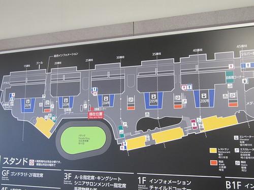 中山競馬場のフロアマップ