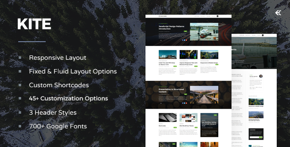 Kite v1.6.1 – Responsive WordPress Theme