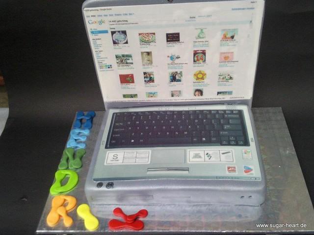 Laptop Cake by SugarheART