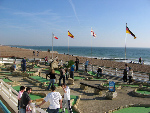 Crazy golf at Brighton