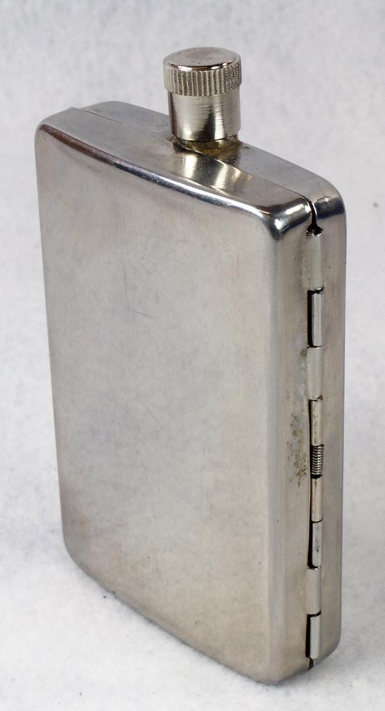 RD15128 Choppers Emblem Ace of Spades Metal Pocket Flask & Cigarette Case DSC08214