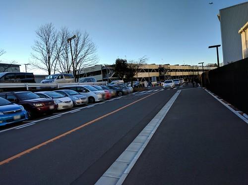 よみうりランドの駐車場