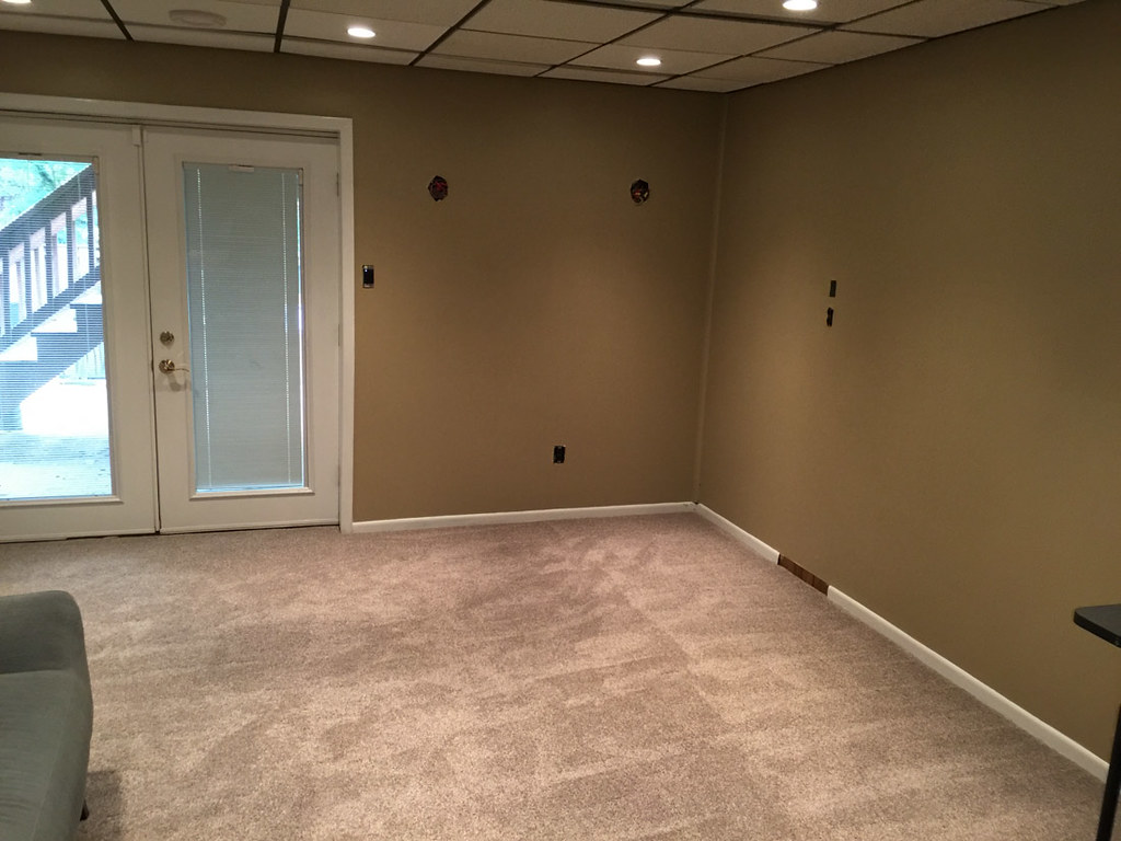 New carpet in the basement