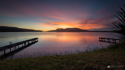 d600 nikon tarawera lake rotorua laketarawera newzealand reflection sunrise jetty pier wharf