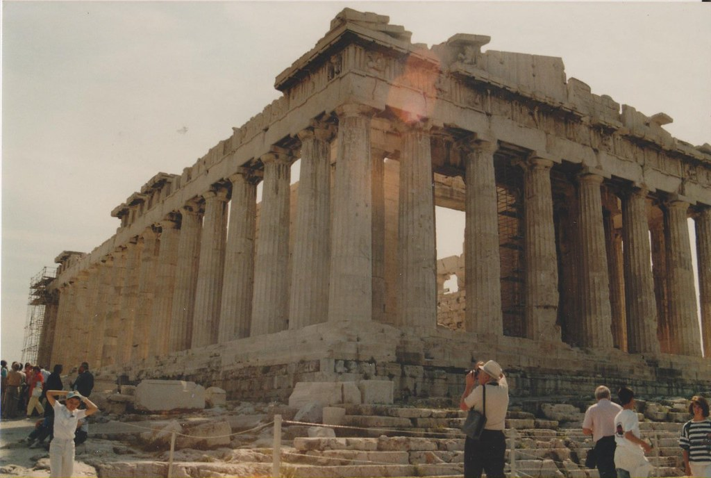 The Parthenon on the Acropolis Athens