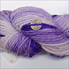 Gradient Violet handspun, close up
