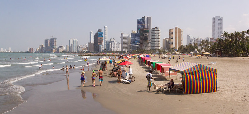Beach, Bocagrande, Cartagena, Colombia