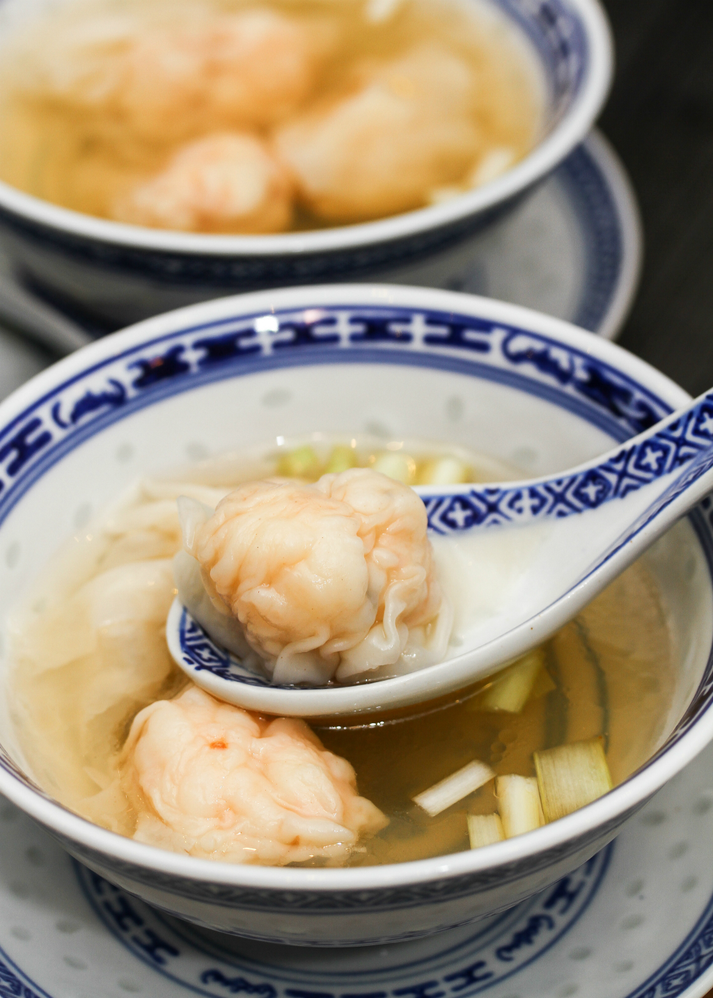 Mak's Noodle's wantons are stuffed full of juicy nuggets of pork and shrimp
