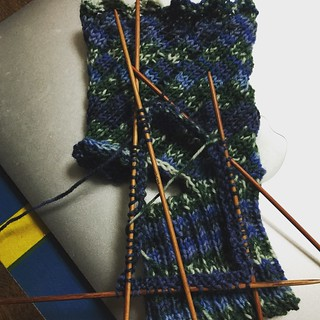 Yoga Socks in Progress