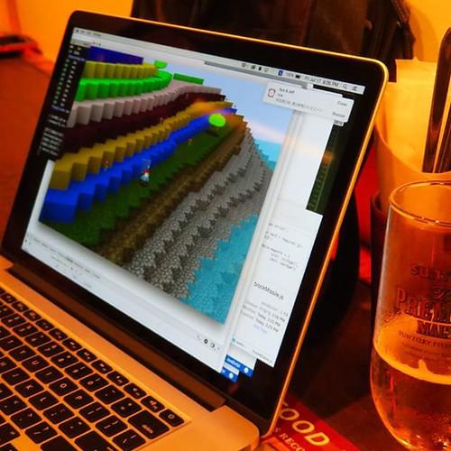 ビールを飲みながら、本気のゲーム作りを見せてもらった。これはすごい。