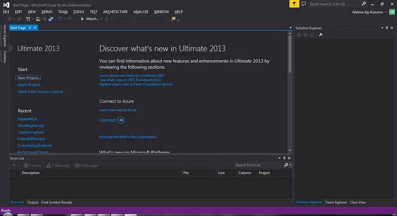 visualstudio-startpage