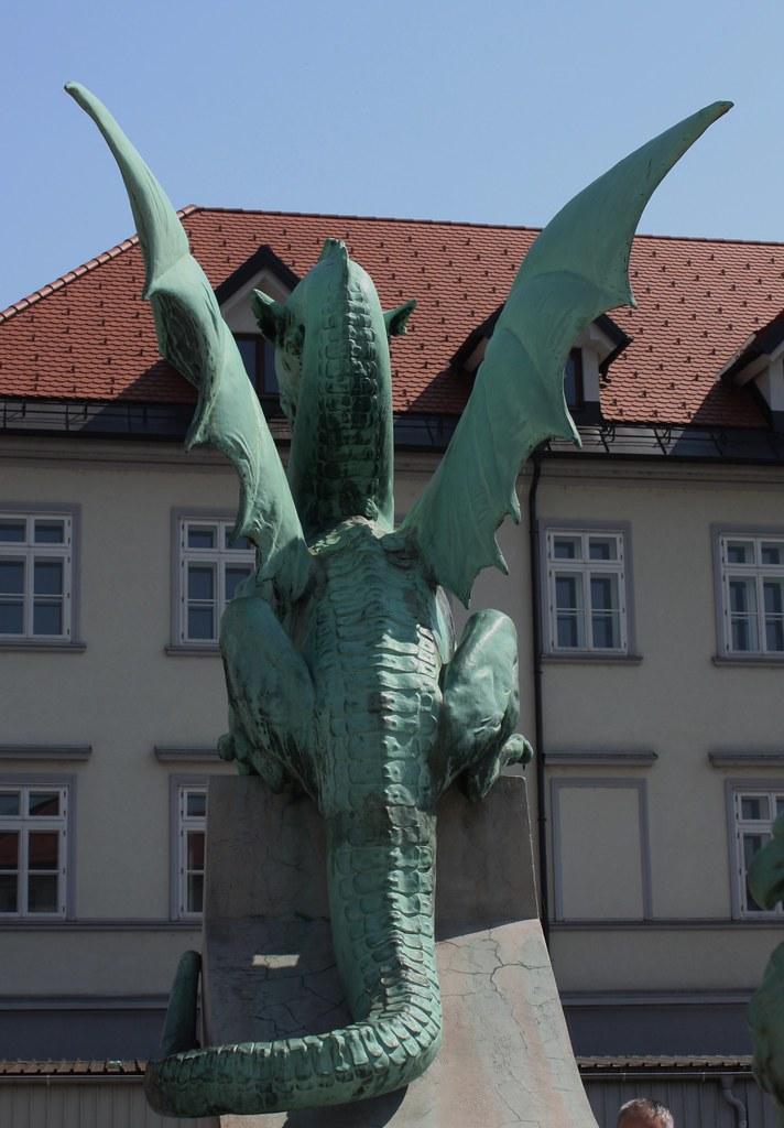Dragon backside Ljubljana Slovenia