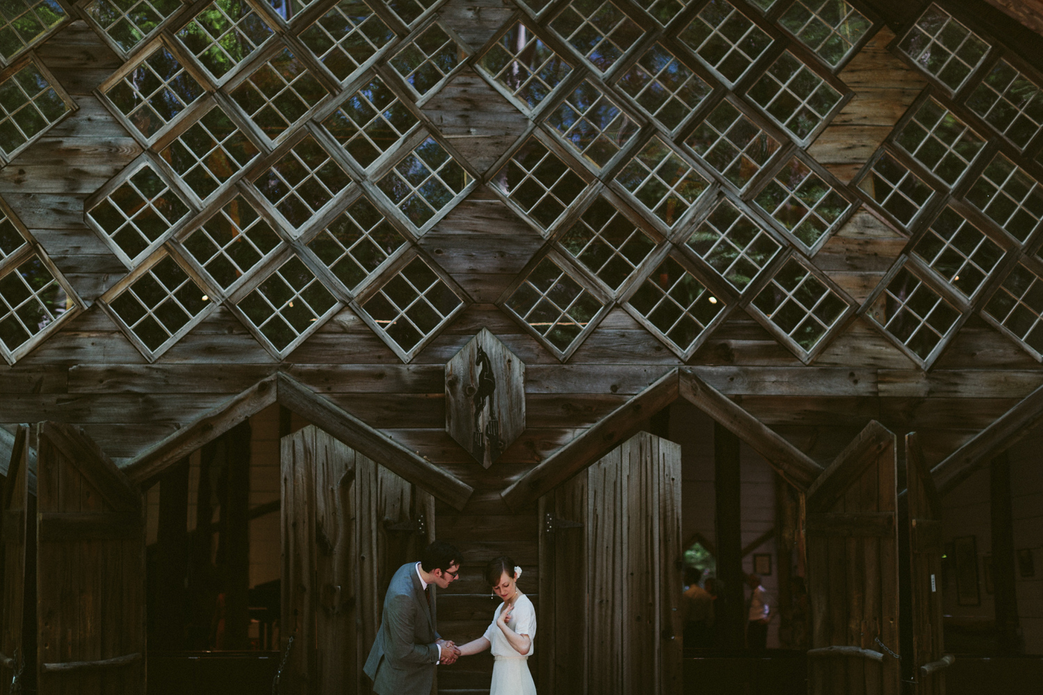 Intimate wedding in the woods